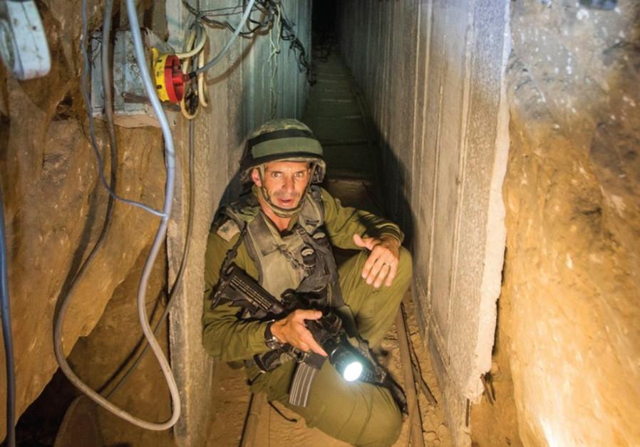 IDF soldier in Gaza tunnel