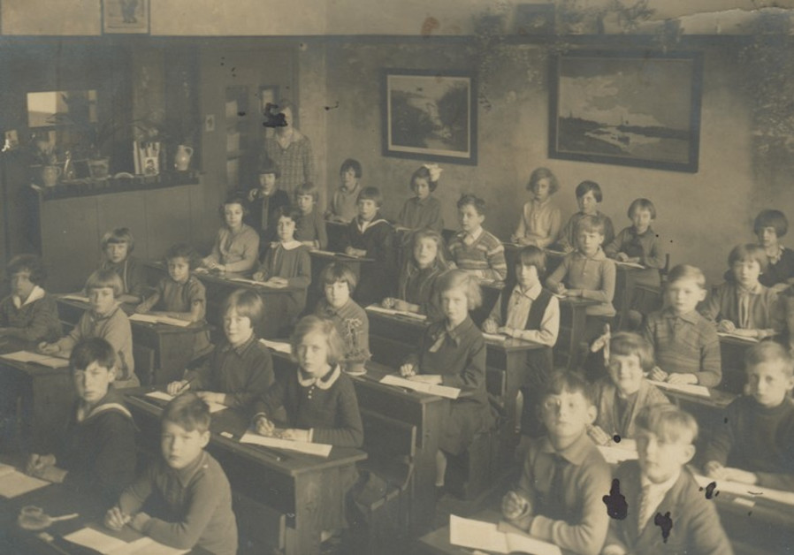 Students sit in class in the district of Scheveningen in the Hague, Netherlands.