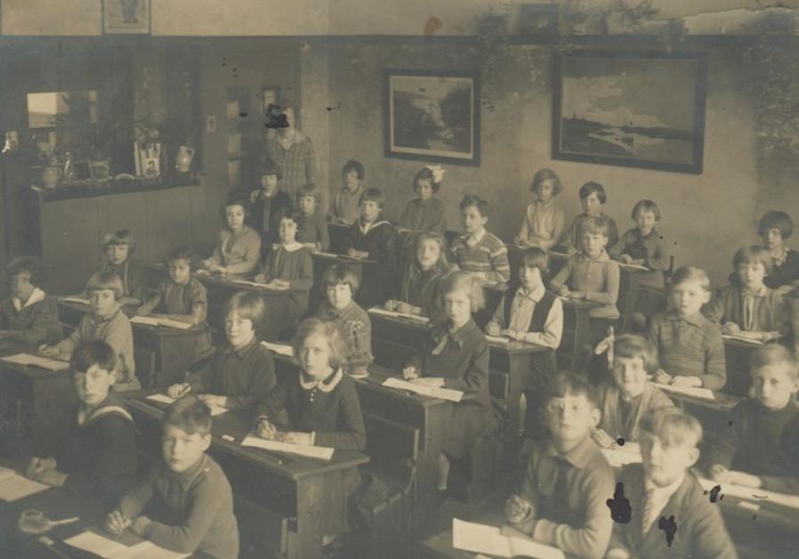 Students sit in class in the district of Scheveningen in the Hague, Netherlands.