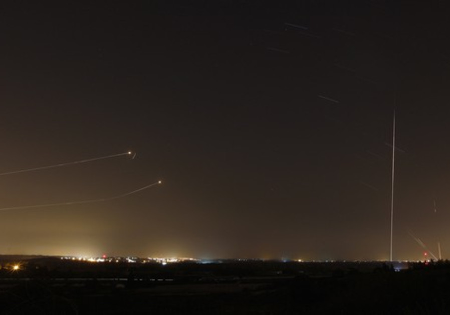 Israeli intercepts incoming rockets from Gaza Strip
