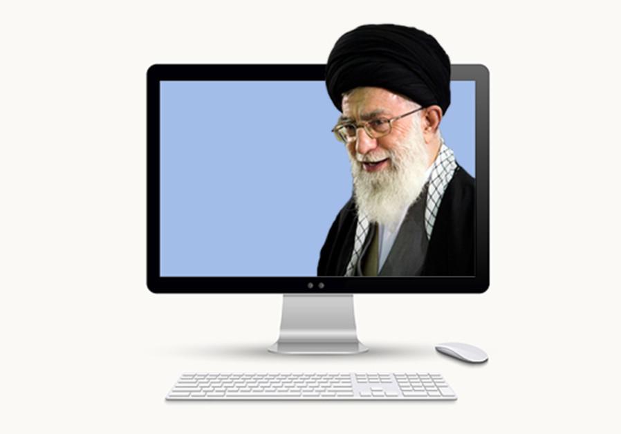 Khamenei on a computer screen