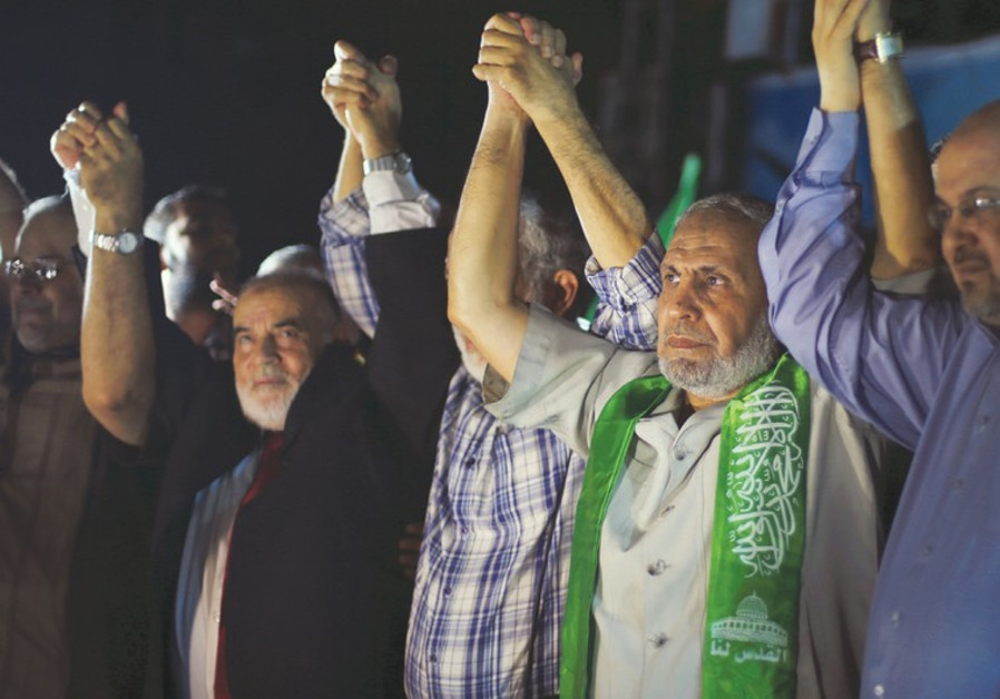 Hamas victory rally in Gaza