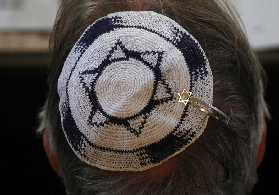 A man wearing a kippah