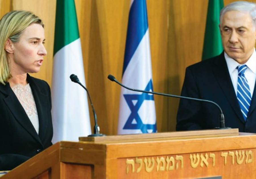 Federica Mogherini and Netanyahu