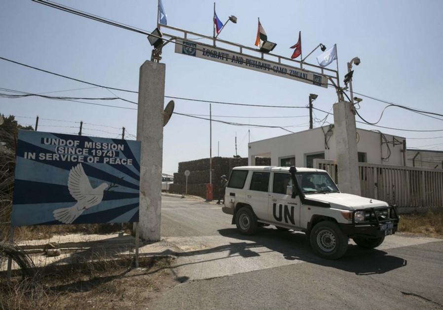 a U.N. base in the Israeli-occupied Golan Heights