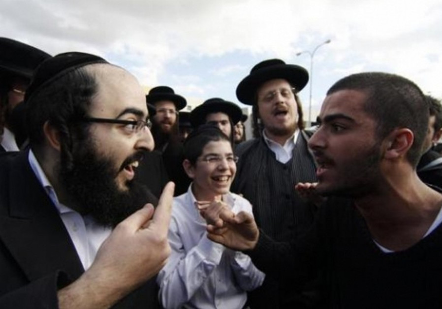 Ultra Orthodox and secular Israelis clash in Beit Shemesh.