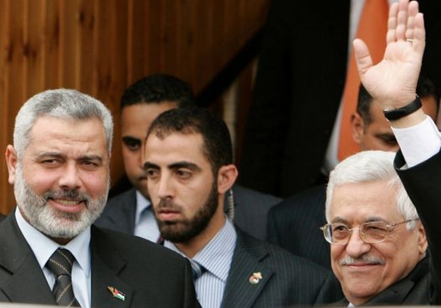 Ismail Haniyeh and Mahmoud Abbas