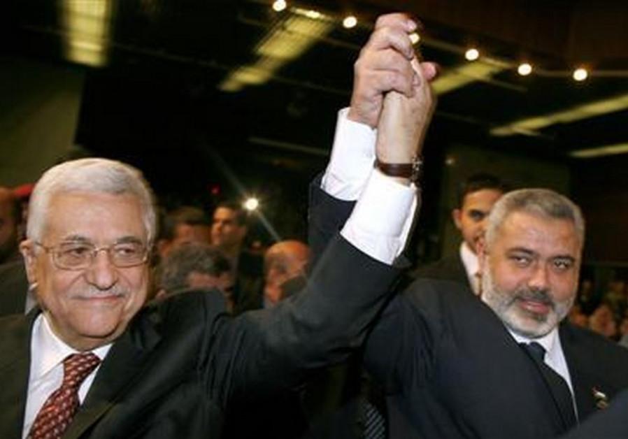 Ismail Haniyeh and Mahmoud Abbas