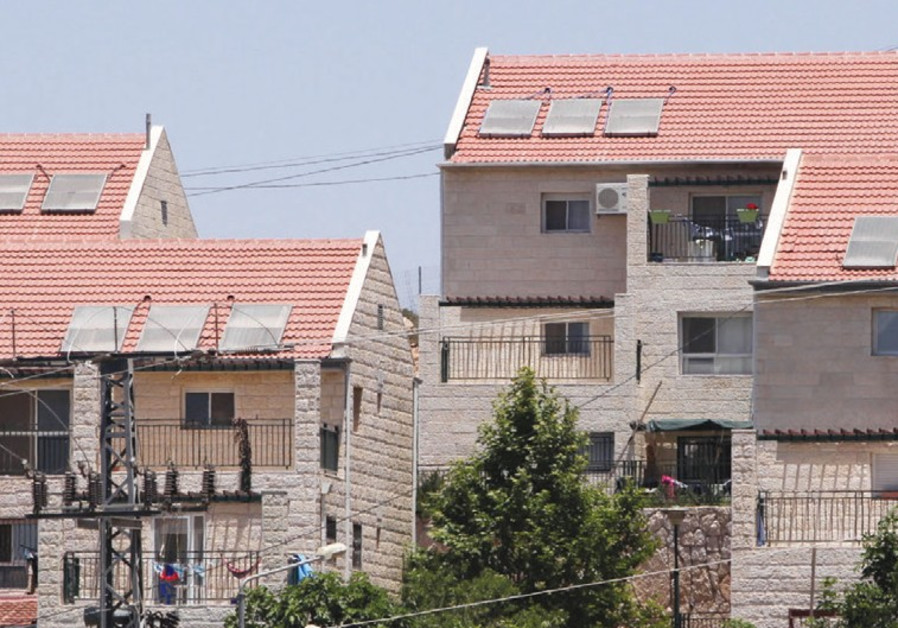 Homes in West Bank settlement