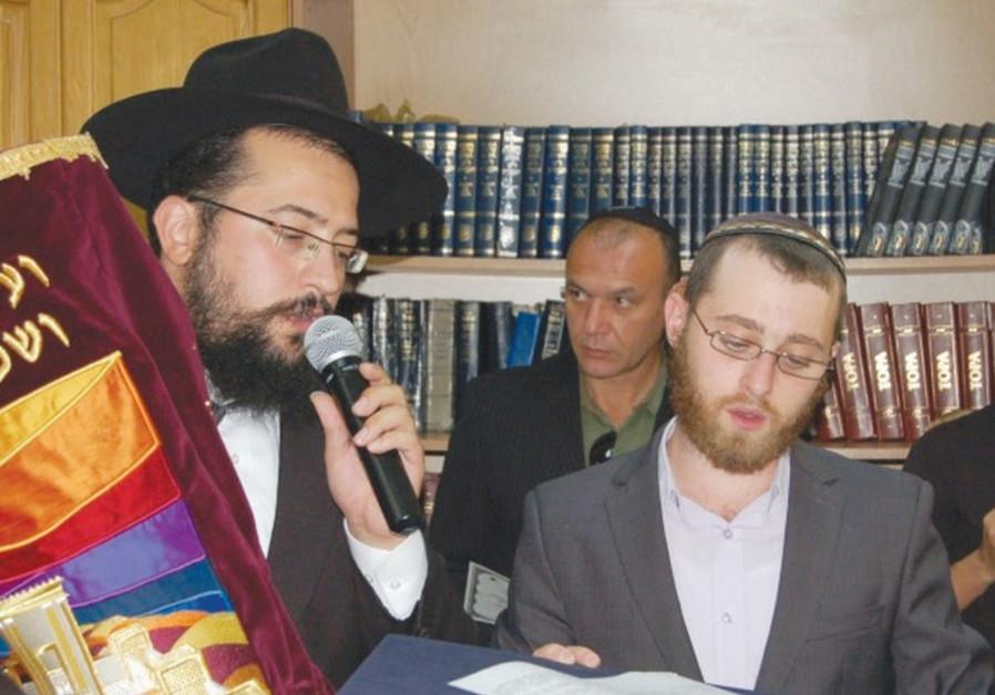 RABBI MENDEL COHEN (left)