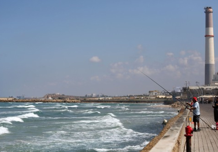 Fisherman at Tel Aviv Port