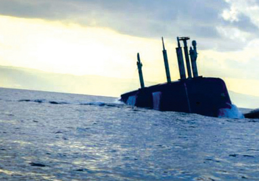 A Dolphin-class submarine