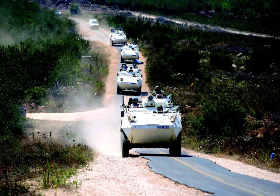 Dans le Golan israélien, la force des Nations unies chargée d'observer le désengagement (UNDOF) s'ap