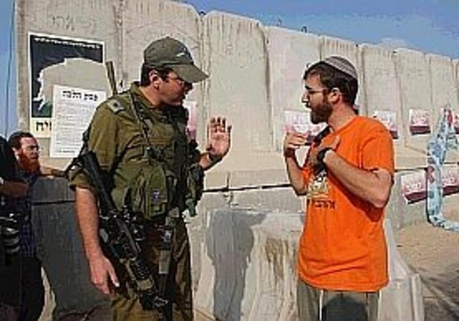 soldier settler argue during disengagement 298