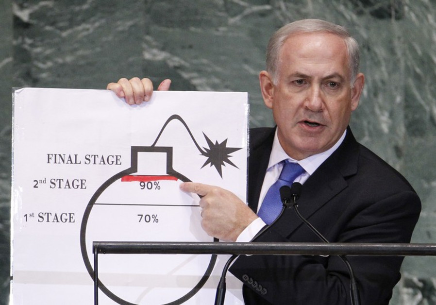 Netanyahu warns against nuclear Iran at 2012 UN General Assembly / REUTERS