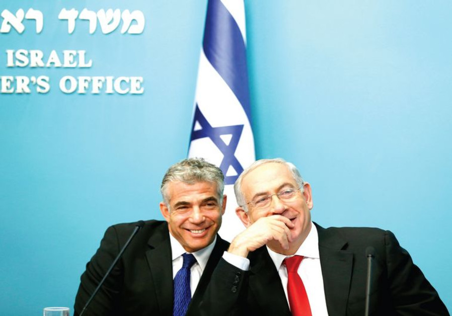 Yair Lapid and Binyamin Netanyahu