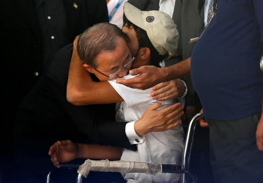 United Nations Secretary-General Ban Ki-moon in Gaza