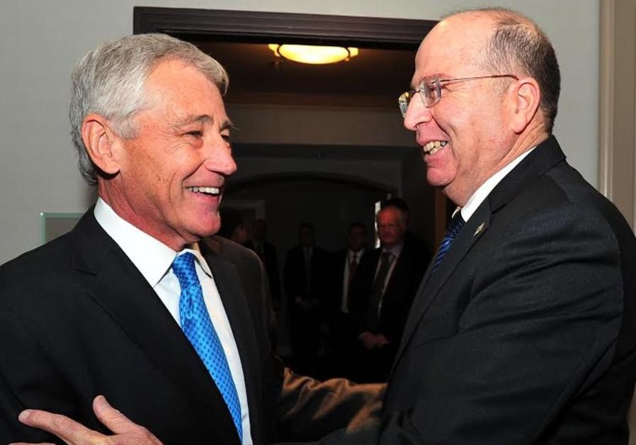 Moshe Ya'alon and Chuck Hagel