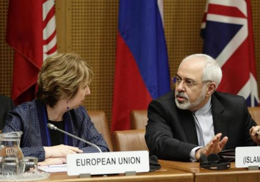 Mohammad Javad Zarif and Catherine Ashton