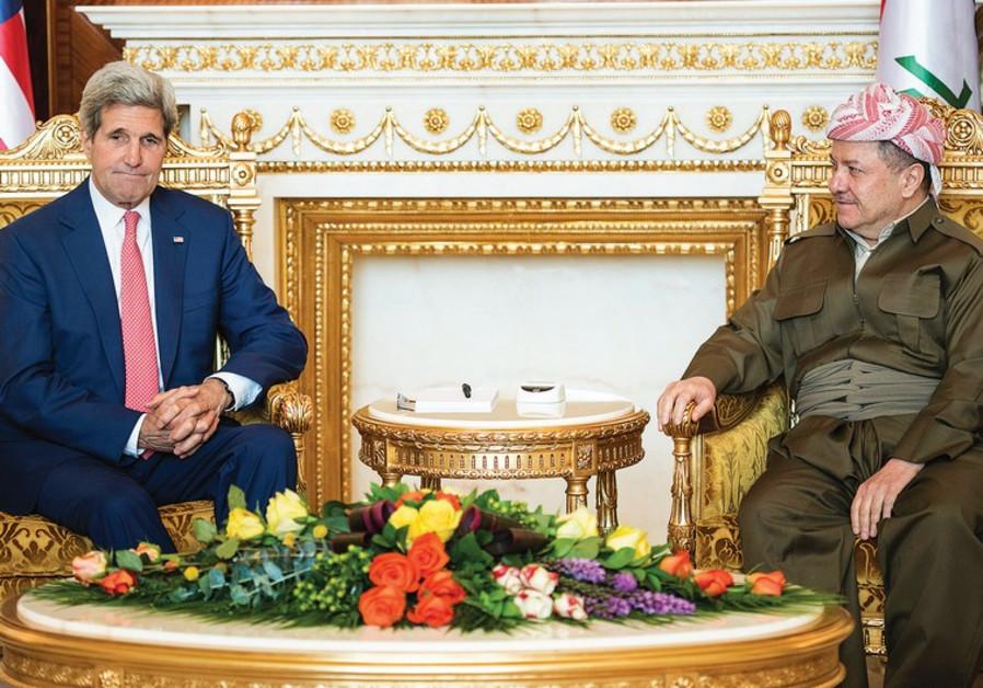 Massoud Barzani and John Kerry