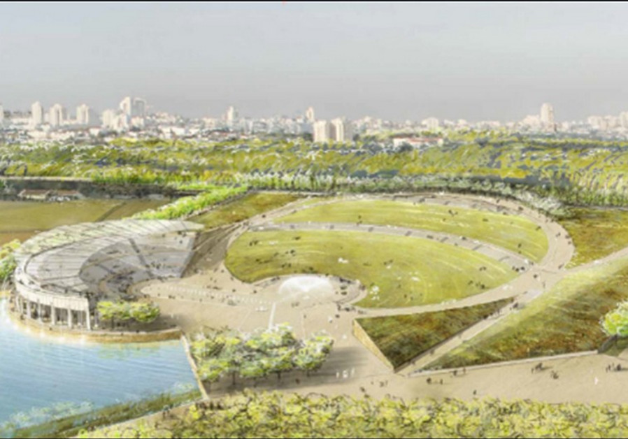 Northern expansion of Ariel Sharon Park.