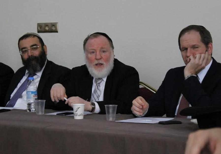 Rabbi Baksht of Odessa addresses members of the CER in Tbilisi Tuesday