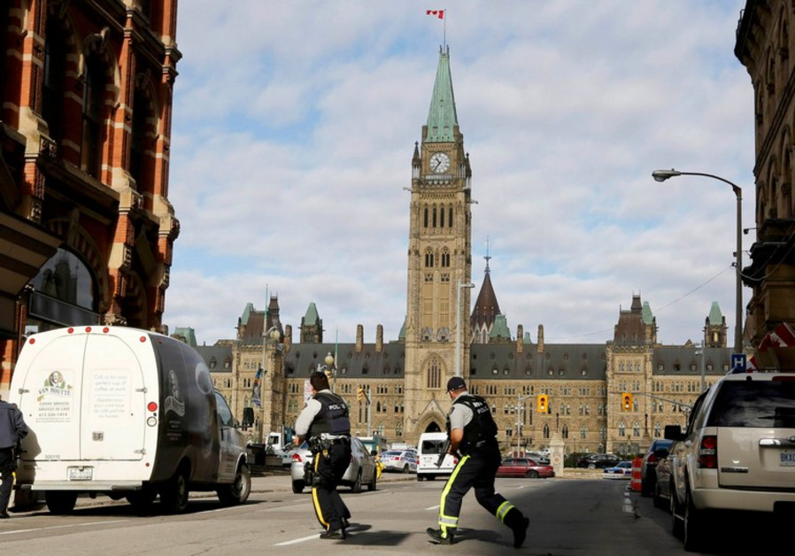 Police in Ottawa near Parliament  on day of shooting, October 22, 2014.
