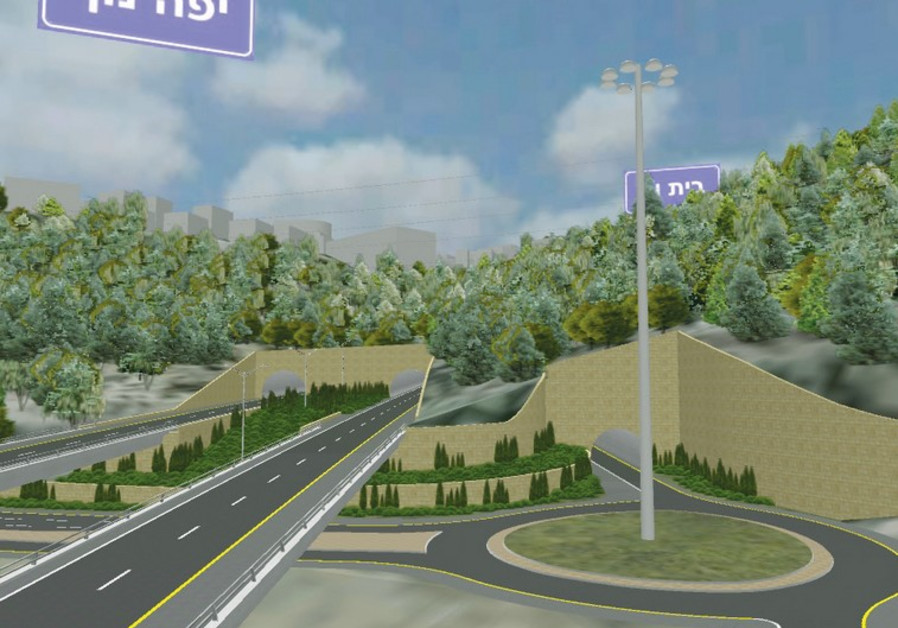 THIS COMPUTER-GENERATED illustration shows some of the impact the projected Route 16 interchange wil