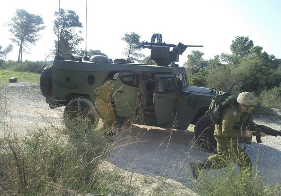 Vehicle with Elbit's ELSAT 2100 satellite-on-the-move system