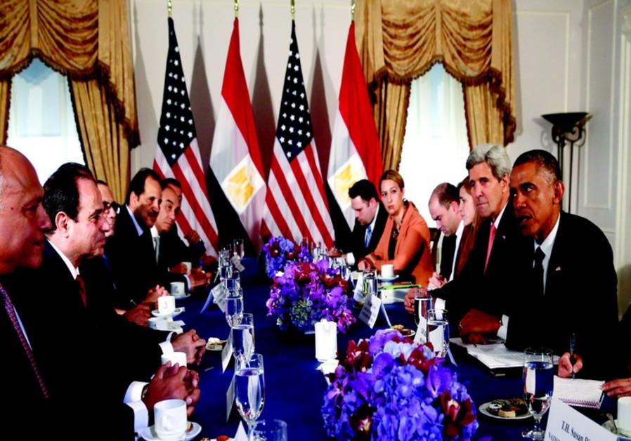 La rencontre à New York en septembre entre Obama et Sissi n'a pas mis fin à la crise.