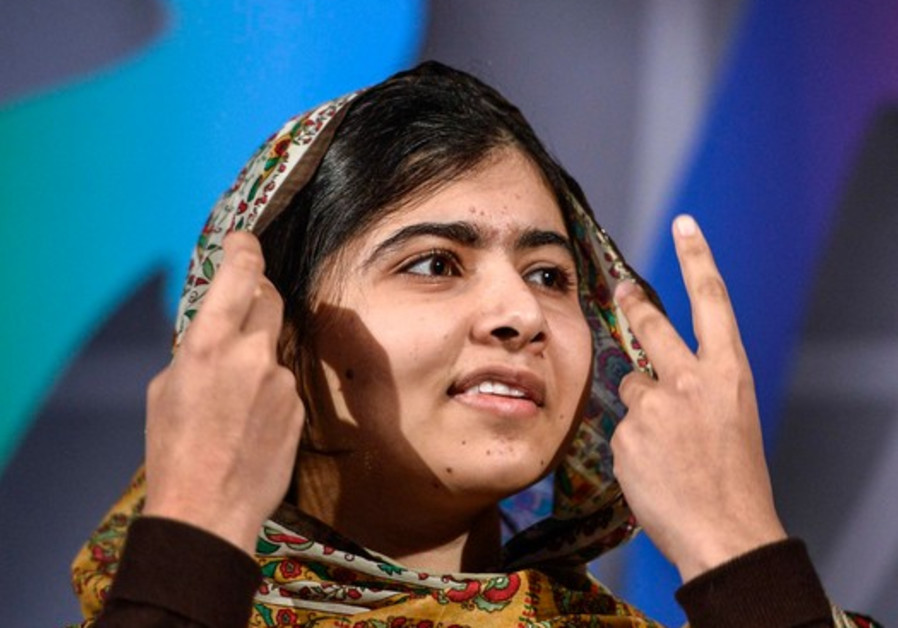 Nobel Peace Prize laureate Malala Yousafzai of Pakistan speaks at the World's Children's Prize ceremony in Mariefred, Sweden