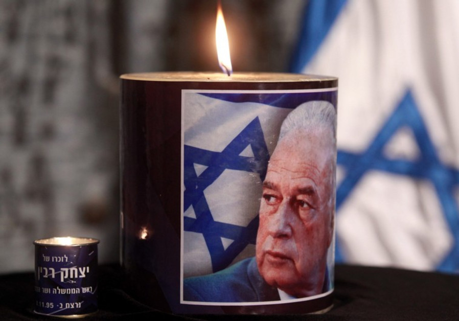 Memorial Candle for late PM Yitzhak Rabin