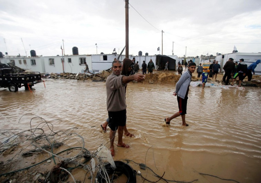Flooding in Gaza over the weekend.