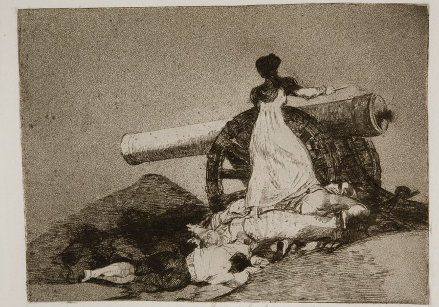 'WHAT COURAGE!' by Francisco de Goya