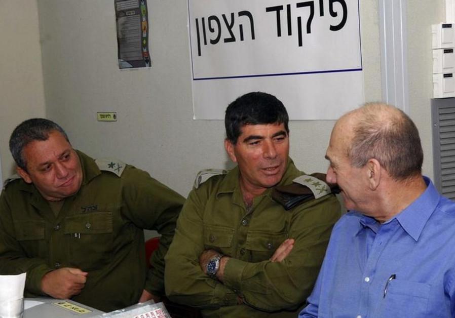 Gadi Eizenkot, Gabi Ashkenazi, and Ehud Olmert