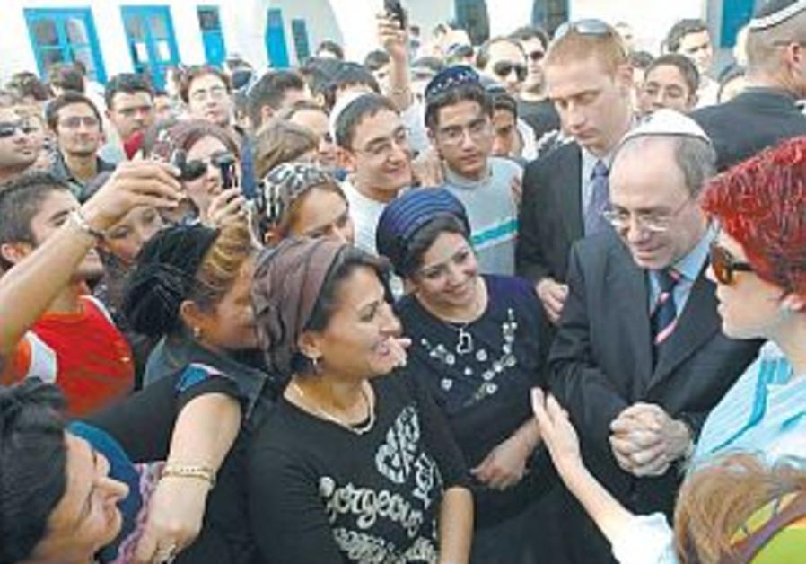 silvan shalom and judy nir mozes shalom in tunisia