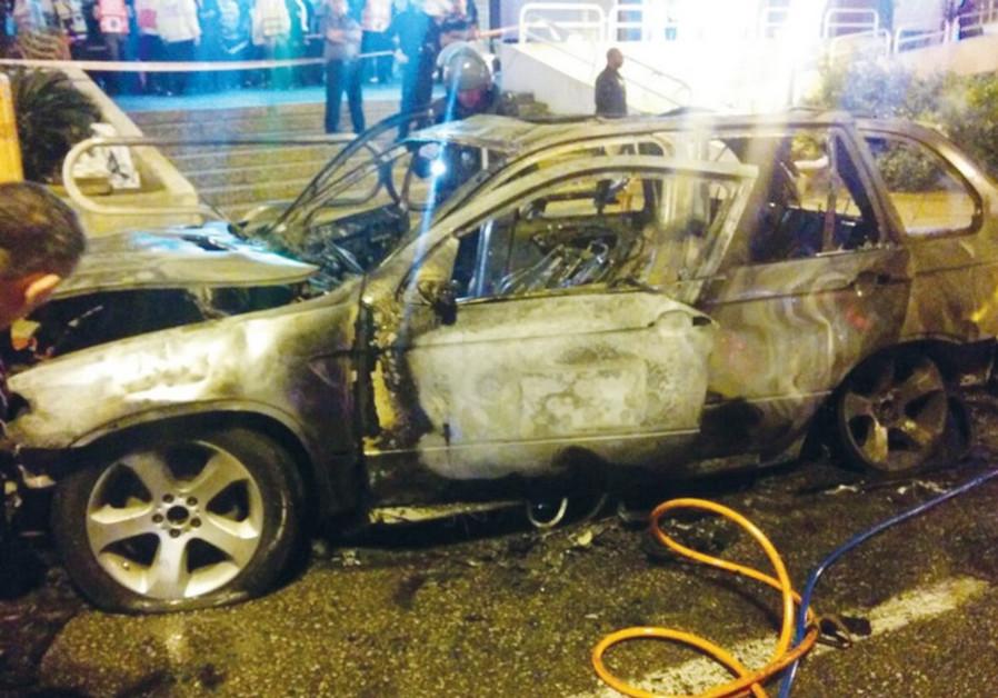Car explodes in Ashdod