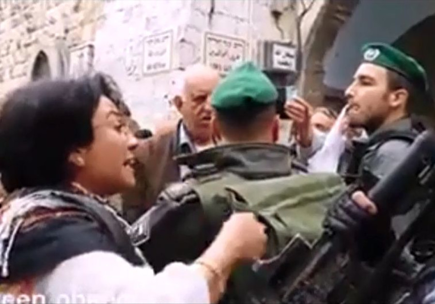 Zoabi confronts police at Temple Mount
