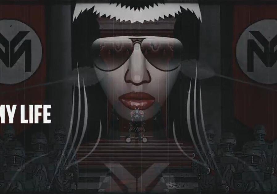 Niki Minaj music video screenshot.