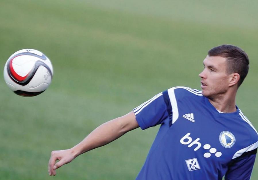 Bosnia striker Edin Dzeko