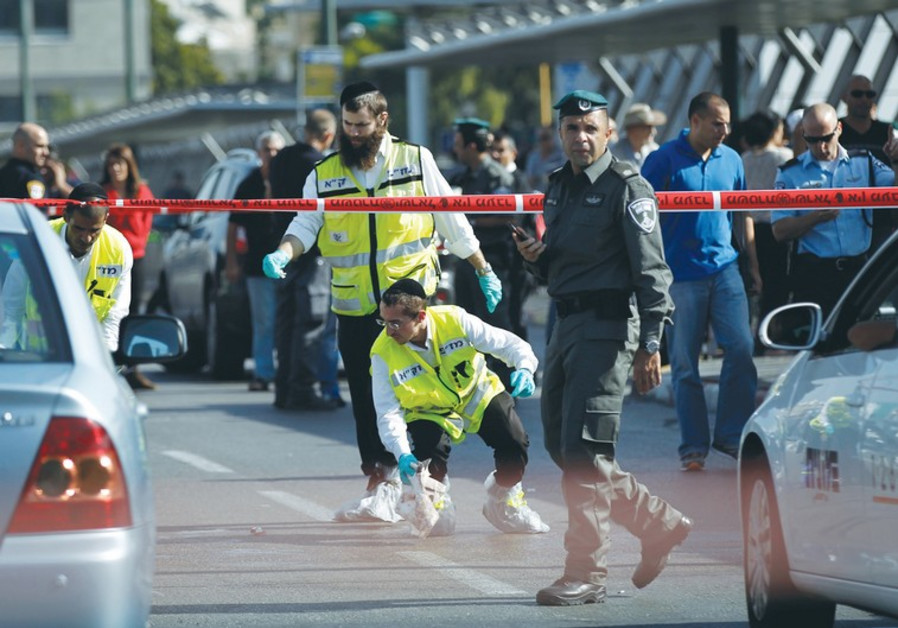 Scene of terror attack in south Tel Aviv