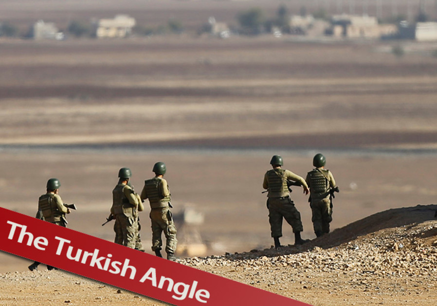 Turkish soldiers at Kobani