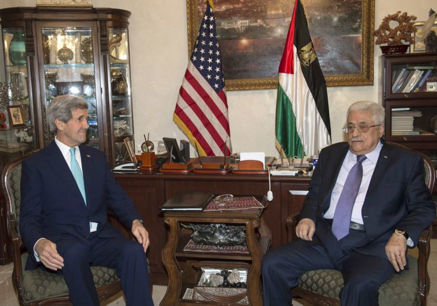 U.S. Secretary of State Kerry meets with Palestinian President Abbas in Amman
