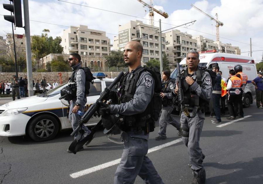 Israeli border police in Jerusalem