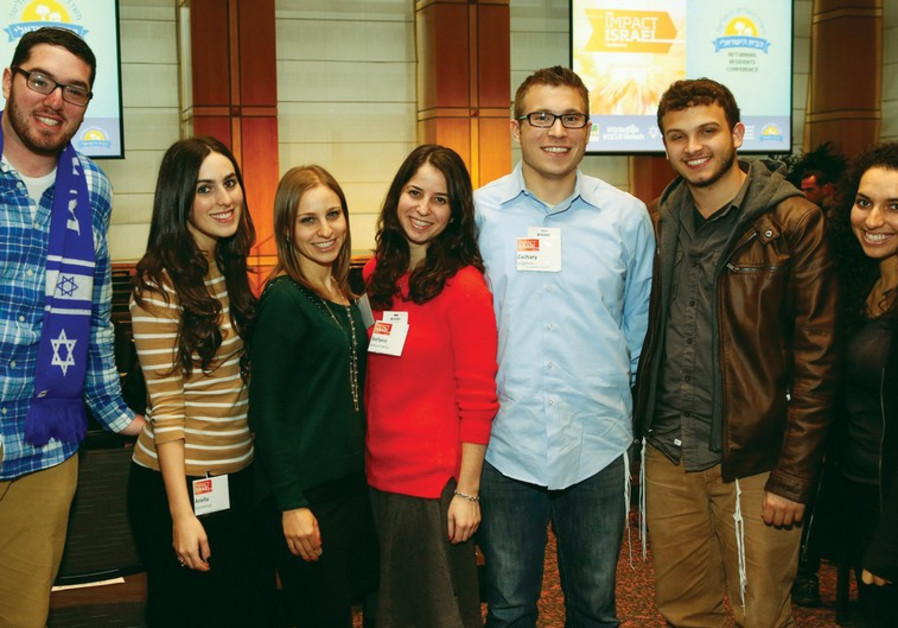 YOUNG PEOPLE attend an Impact Israel conference