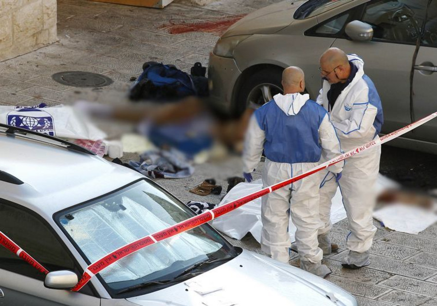 Terror attack scene in Jerusalem