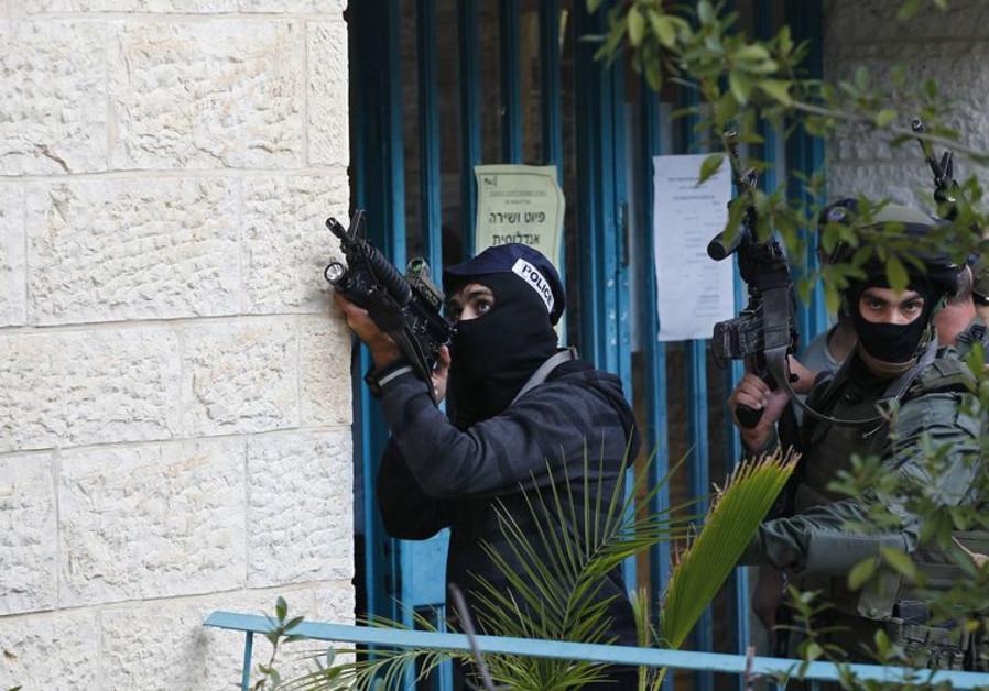 Terror attack scene in Jerusalem