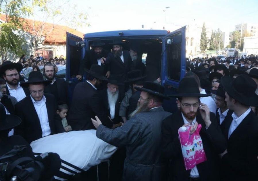 Funeral of rabbi Moshe Twersky