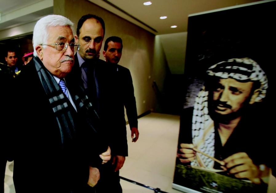 Mahmoud Abbas lors de la commemoration le 11 novembre