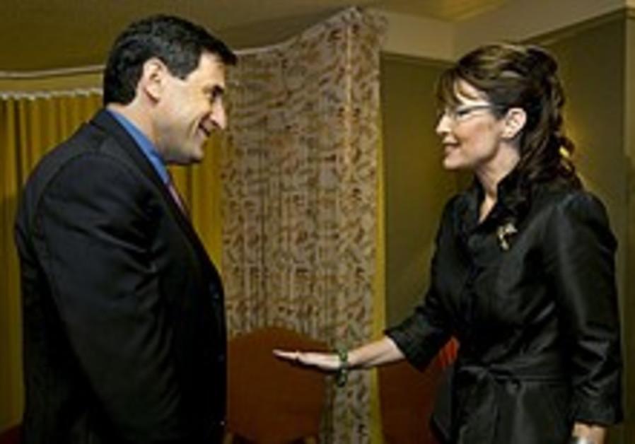 Palin meets Israeli Ambassador to US